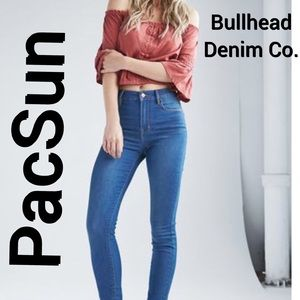 High waisted PacSun denim skinny jeans
